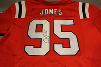 PATRIOTS - CHANDLER JONES SIGNED AUTHENTIC PATRIOTS THROWBACK JERSEY - SIZE 52