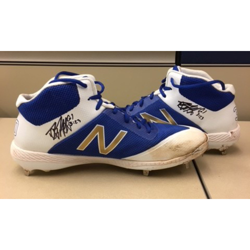 Photo of Game-Used Danny Duffy Cleats from  - 4/27/18