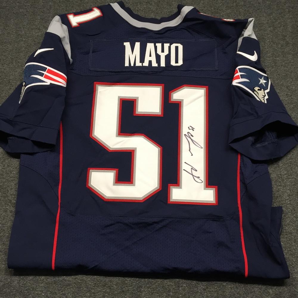 NFL Auction | Patriots - Jerod Mayo signed authentic Patriots ...