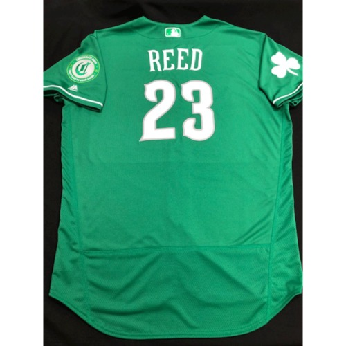 Photo of Cody Reed -- Team-Issued Jersey -- 2019 St. Patrick's Day