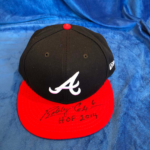Photo of UMPS CARE AUCTION: Bobby Cox Signed Braves Hat, Size 7 1/8