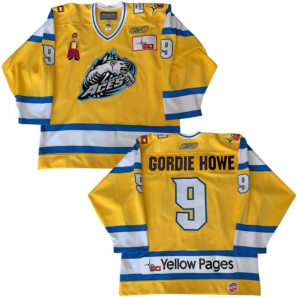 Alaska Aces Gordie Howe #9 Jersey