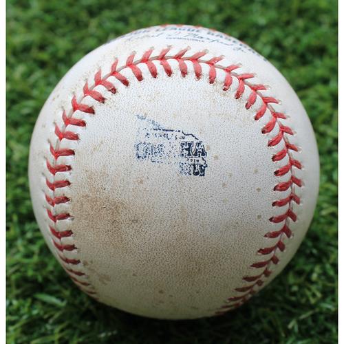 Photo of Game-Used Baseball: Whit Merrifield 115th Career Double - MLB in Omaha (DET @ KC - 6/13/19)