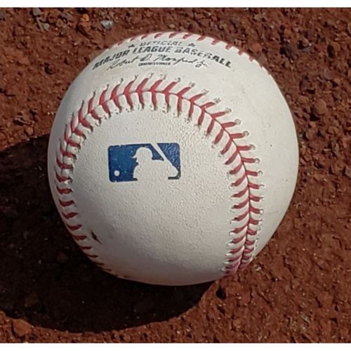 2019 Phillies Game-Used Baseball - Vince Velasquez Outfield Assist