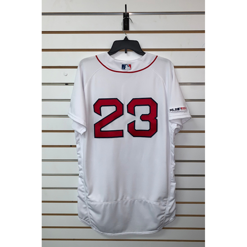 Michael Chavis Team Issued 2019 Home Jersey