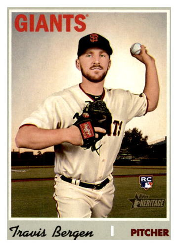 Photo of 2019 Topps Heritage #697 Travis Bergen RC