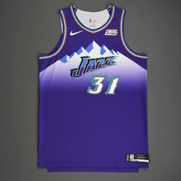 Image of Georges Niang - Utah Jazz - Game-Worn Classic Edition 1996-04 Road Jersey - 2019-20 Season