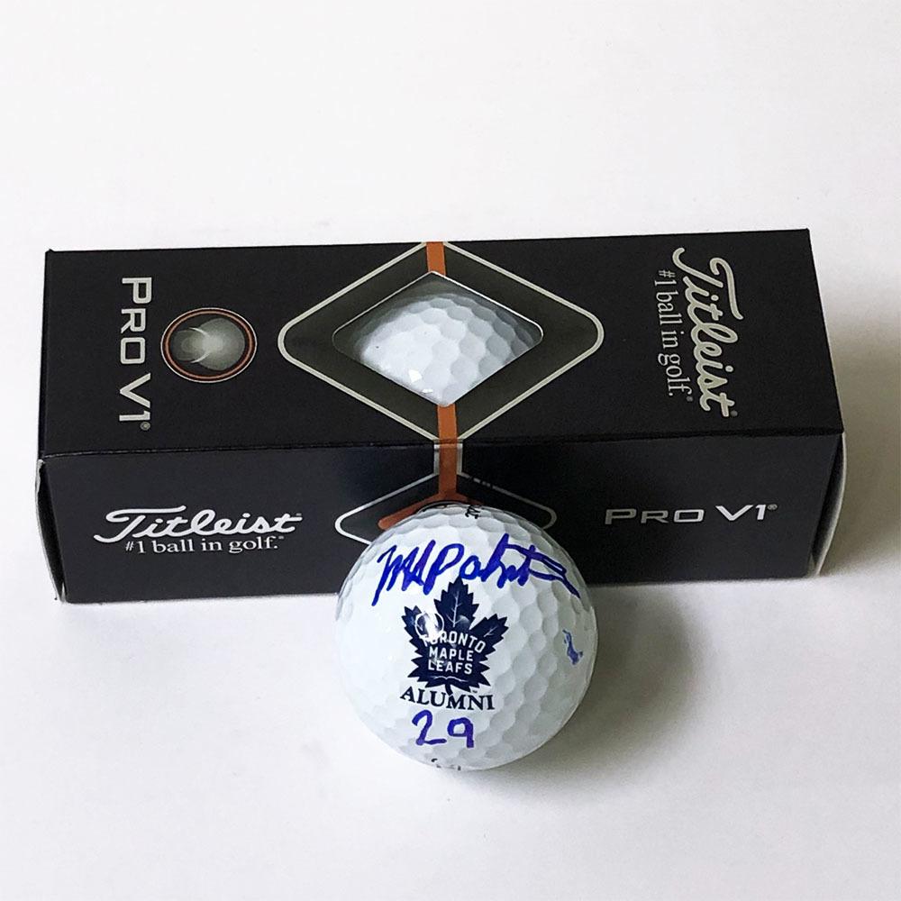 Mike Palmateer Autographed Titleist Pro V1 Alumni Golf Balls