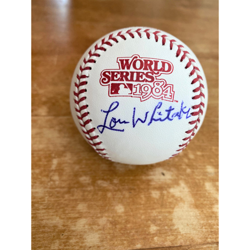 Photo of Lou Whitaker Autographed 1984 World Series Baseball (MLB AUTHENTICATED)