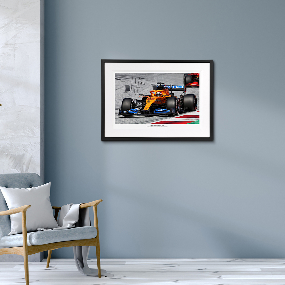 Carlos Sainz 2020 Austrian Grand Prix Signed Photo (No.1 edition)