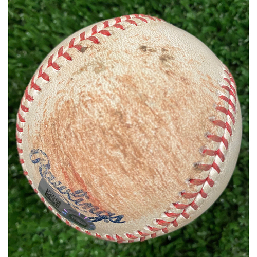 Photo of Game Used Baseball - Batter: Freddie Freeman, Pitcher: Alex Fesia, Ball - September 9, 2020 - Braves Break NL Record for Most Runs Scored in a Game with 29 Runs