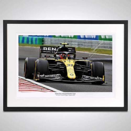 Photo of Esteban Ocon 2020 Framed Signed Photo - Hungarian GP