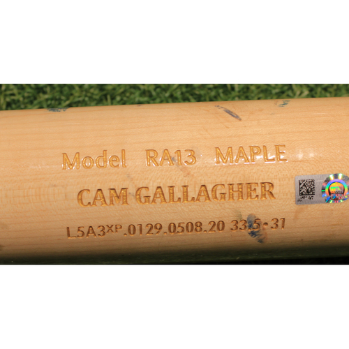 Photo of Team-Issued Broken Bat: Cam Gallagher #36