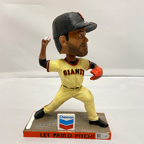 "Photo of 2019 Autographed Pablo Sandoval ""Let Pablo Pitch"" Bobblehead signed by #48 Pablo Sandoval"