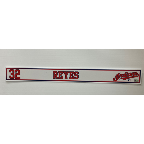 Photo of 2020 Spring Training Game Used Locker Name Plate - Franmil Reyes