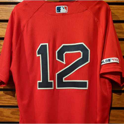 Photo of Brock Holt #12 Game Used Red Home Alternate Jersey
