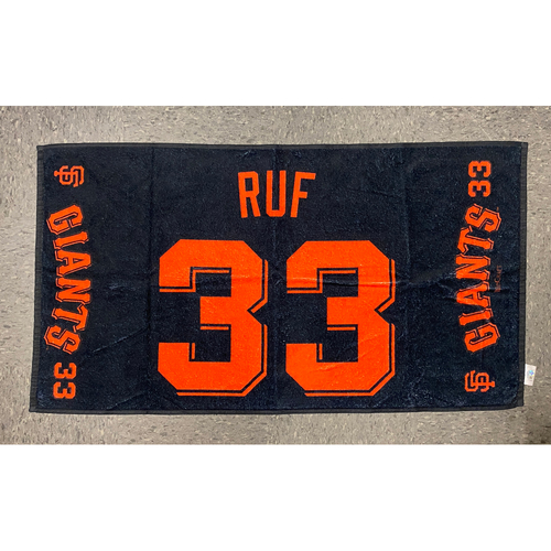 "Photo of 2020 Team Issued Player Towel - #33 Darin Ruf - Towel Measurements - 40""x20"""