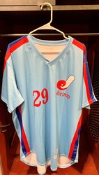 Photo of Jacksonville Expos Fauxback Jersey #29 Size 48