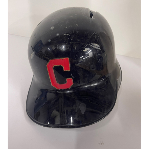 Photo of Team Issued batting Helmet - Brandon Guyer #6 - Twins at Indians