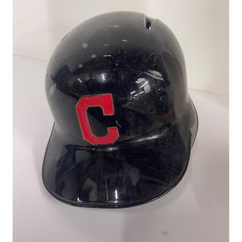 Team Issued batting Helmet - Brandon Guyer #6 - Twins at Indians