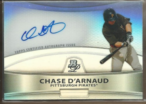 Photo of 2010 Bowman Platinum Prospect Autographs Refractors #CD Chase D'Arnaud