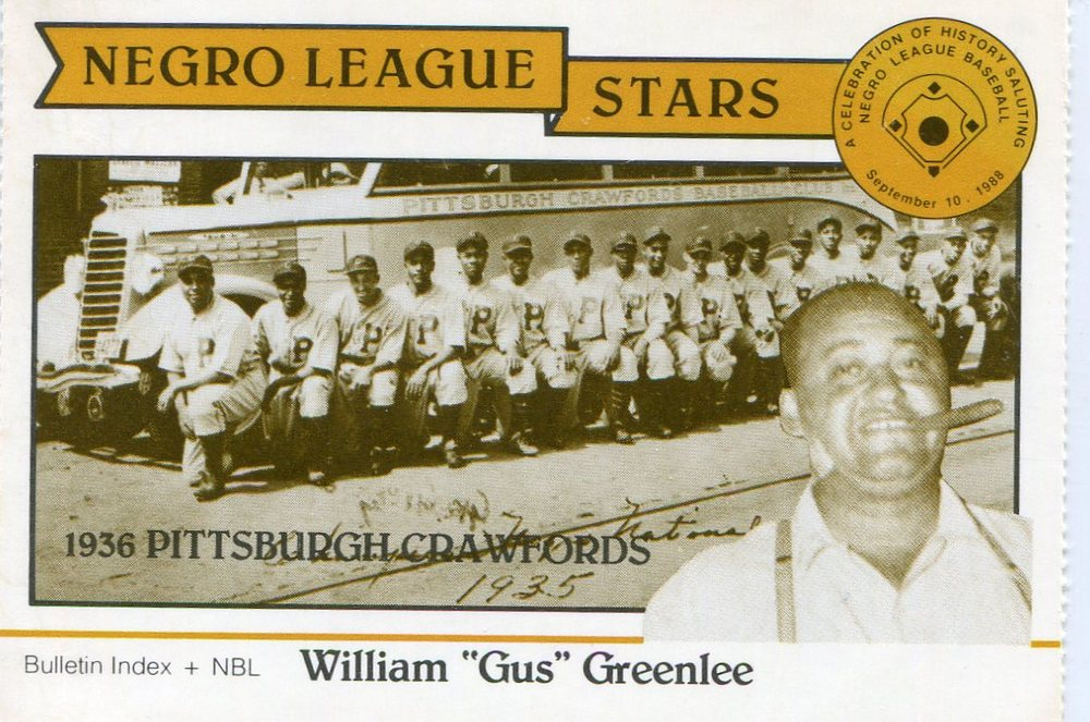 1988 Negro League Duquesne Light Co. #5 Gus Greenlee owner