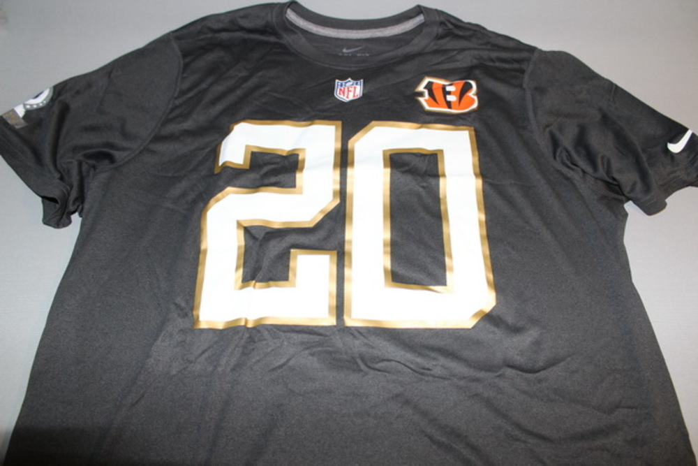NFL - BENGALS REGGIE NELSON 2016 PRO BOWL DARK GRAY T-SHIRT WITH NAME AND NUMBER - SIZE XL