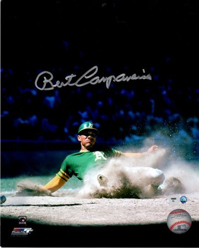 Photo of Bert Campaneris Sliding Autographed 8x10