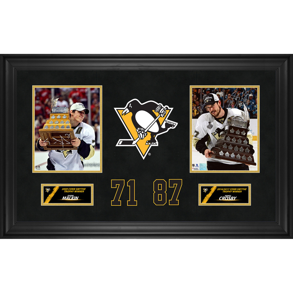 Sidney Crosby and Evgeni Malkin Pittsburgh Penguins Dual Deluxe Framed Autographed 8