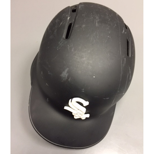 Photo of Countdown to SoxFest - Nicky Delmonico Team Issued Black Matte Helmet
