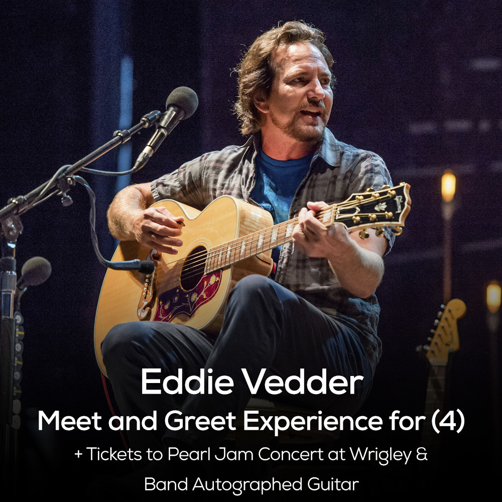 Eddie Vedder Pearl Jam Concert Meet & Greet Package for Four - Wrigley Field