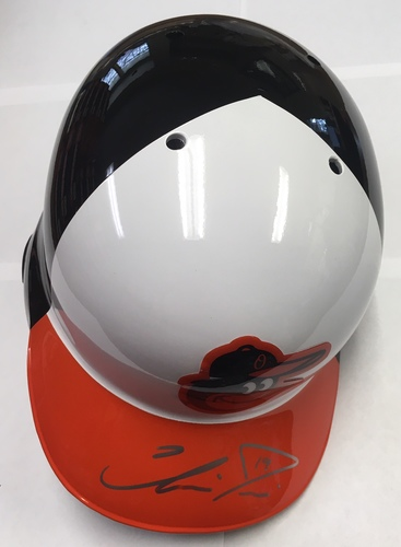 Photo of Chris Davis Autographed Orioles Batting Helmet
