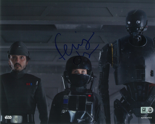 Felicity Jones as Jyn Erso 8x10 Autographed in Blue Ink Photo