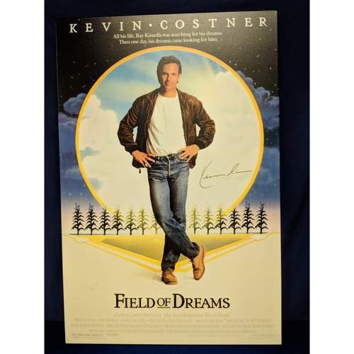 Photo of Kershaw's Challenge: Kevin Costner Autographed Field of Dreams Canvas