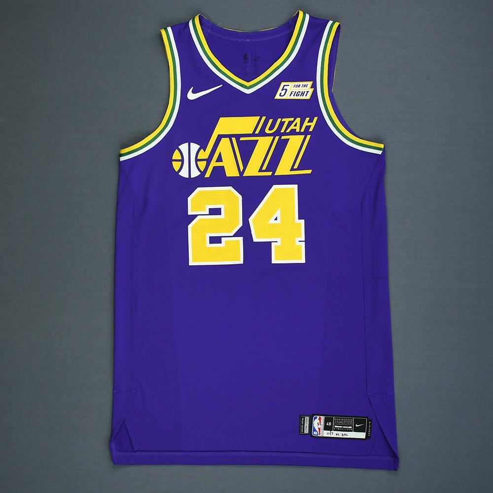Grayson Allen - Utah Jazz - Game-Worn Classic Edition 1986-96 Road Jersey 91a4654ad
