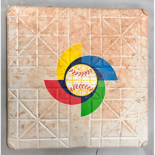 Photo of 2017 World Baseball Classic Game Used Base- 1st Base (Innings 1-6) (Australia at China)