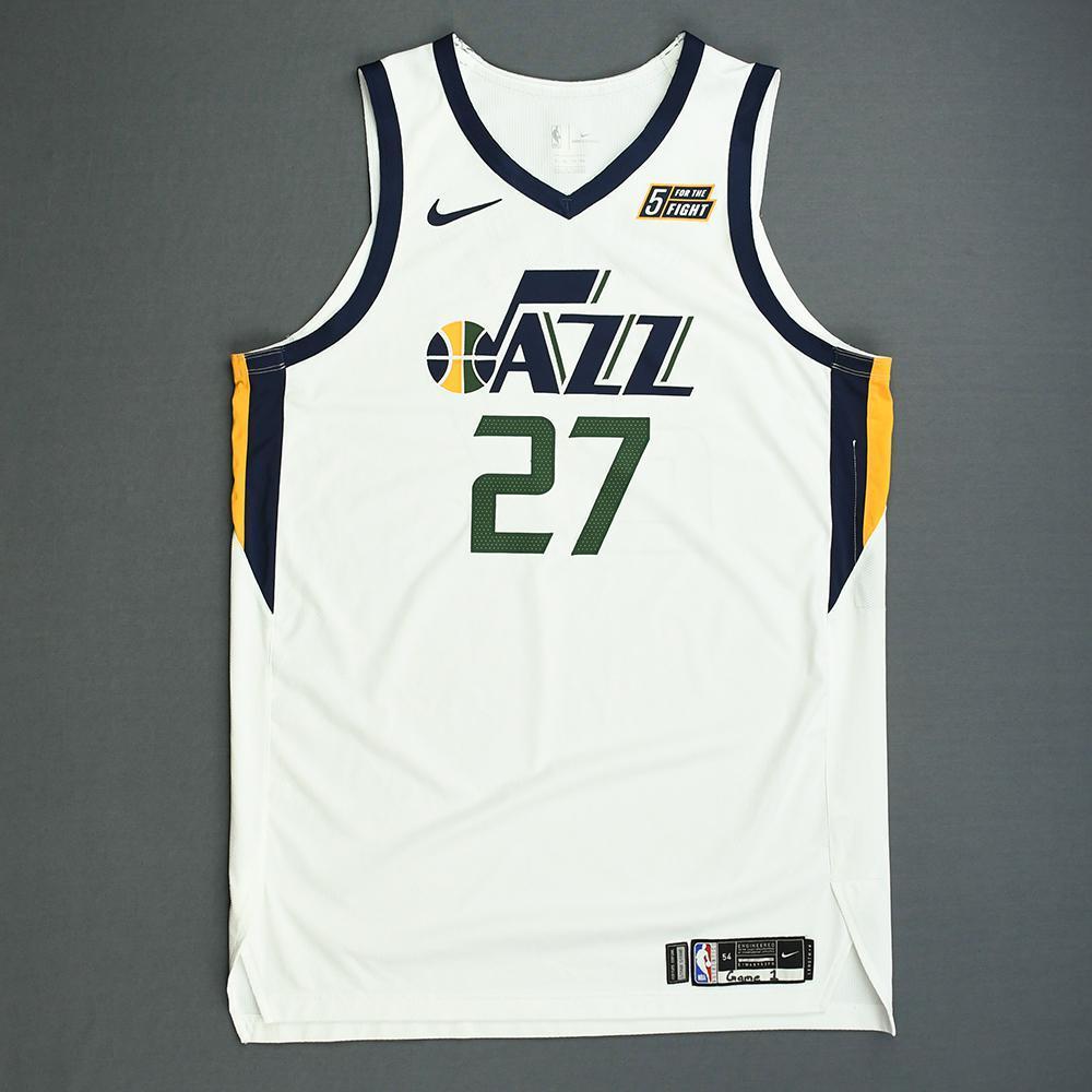 new product a1ed3 0cae5 Rudy Gobert - Utah Jazz - Game-Worn Association Edition ...