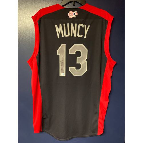 Max Muncy 2019 Major League Baseball Workout Day Autographed Jersey