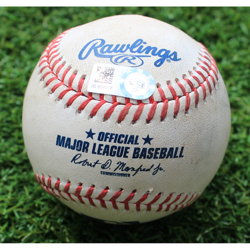 Photo of Game-Used Baseball: Matt Boyd Pitched 538th Career Strikeout (DET @ KC - 7/13/19)