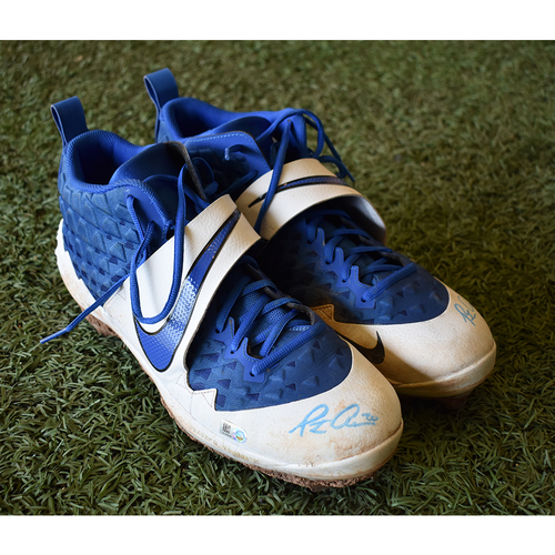Pete Alonso #20 - Autographed Game-Used Cleats - Mets vs. Marlins - 9/26/19