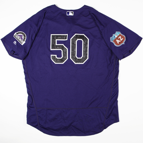 Photo of 2016 Spring Training - Spring Training Game Used Jersey - Chad Qualls (Rockies)- Size- 52