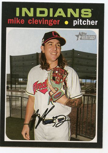 Photo of 2020 Topps Heritage #341 Mike Clevinger