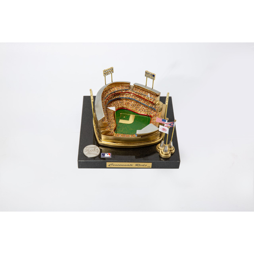 Photo of Miniature Architectural Sports Ballpark Recreation of Great American Ball Park by artist John Kimball Westbrook