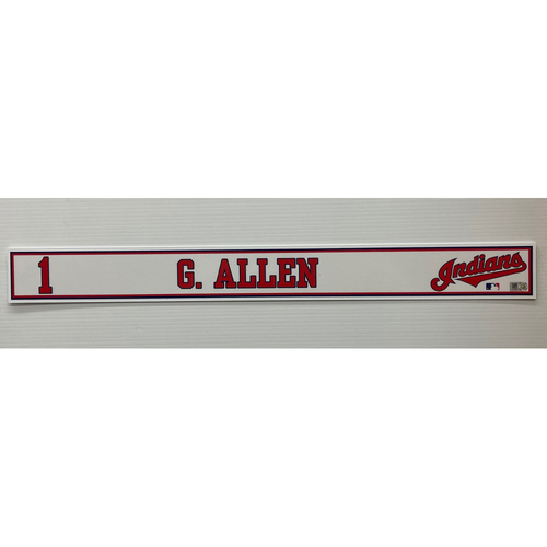 Photo of 2020 Spring Training Game Used Locker Name Plate - Greg Allen
