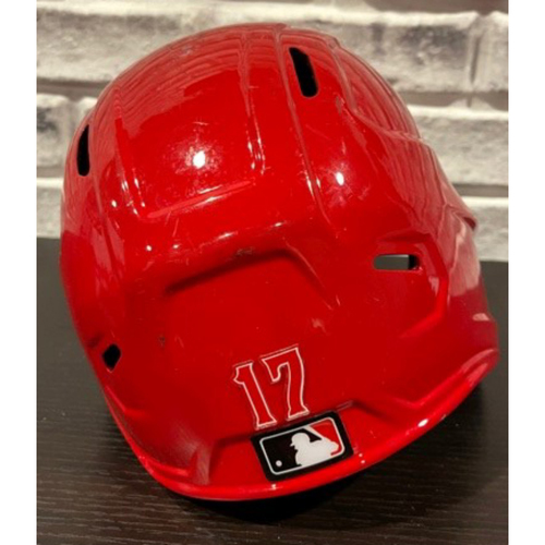 Photo of No. 17 -- Team-Issued Helmet -- Right Ear Flap -- Size 7 1/2 (Not MLB Authenticated)