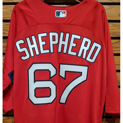 Photo of Chandler Shepherd #67 Red Team Issued Batting Practice Jersey
