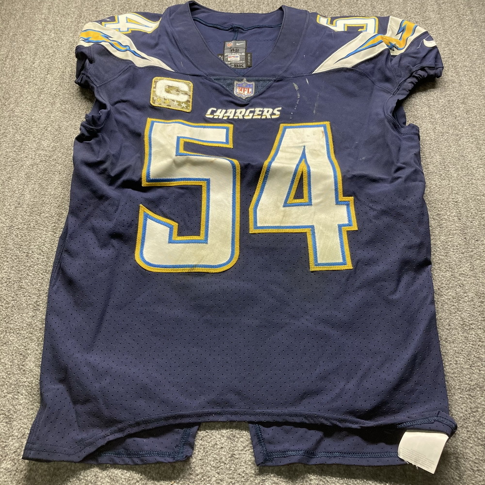 NFL Auction | STS - Chargers Melvin Ingram Game Used Jersey (11/19 ...