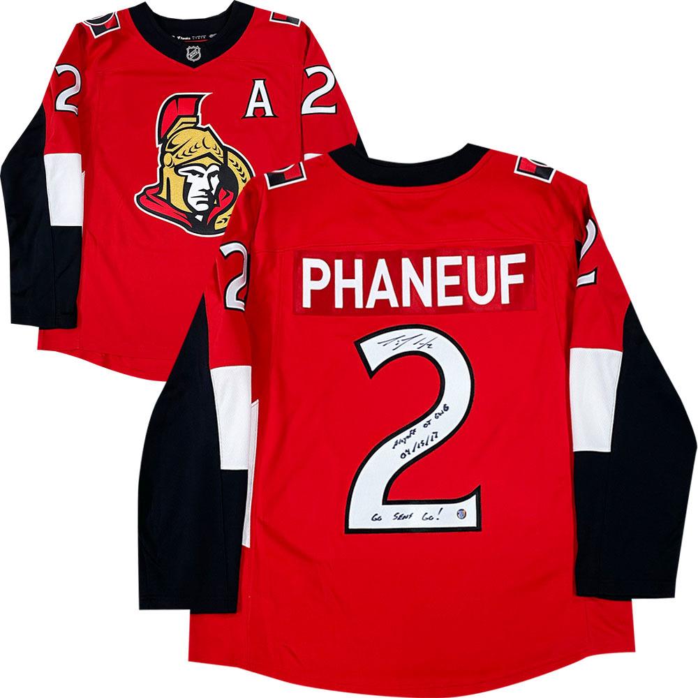 Dion Phaneuf Autographed Ottawa Senators Fanatics Jersey w/PLAYOFF OT GWG 04/15/17 Inscription