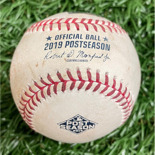 Photo of Game Used ALDS Game #4 Baseball: Austin Meadows foul ball off Will Harris - Bottom 8 - October 8, 2019 v HOU