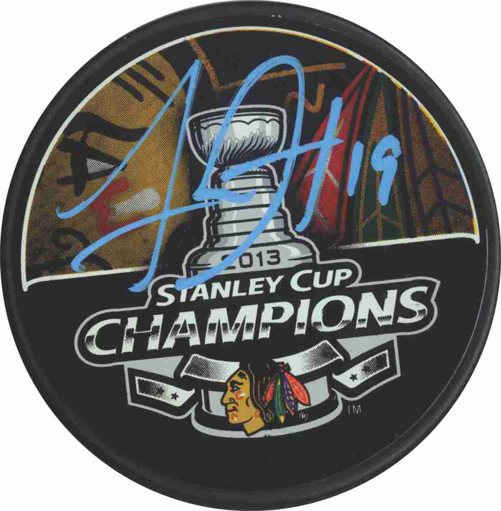 Jonathan Toews - Signed 2013 Stanley Cup Champions Puck - Chicago Blackhawks